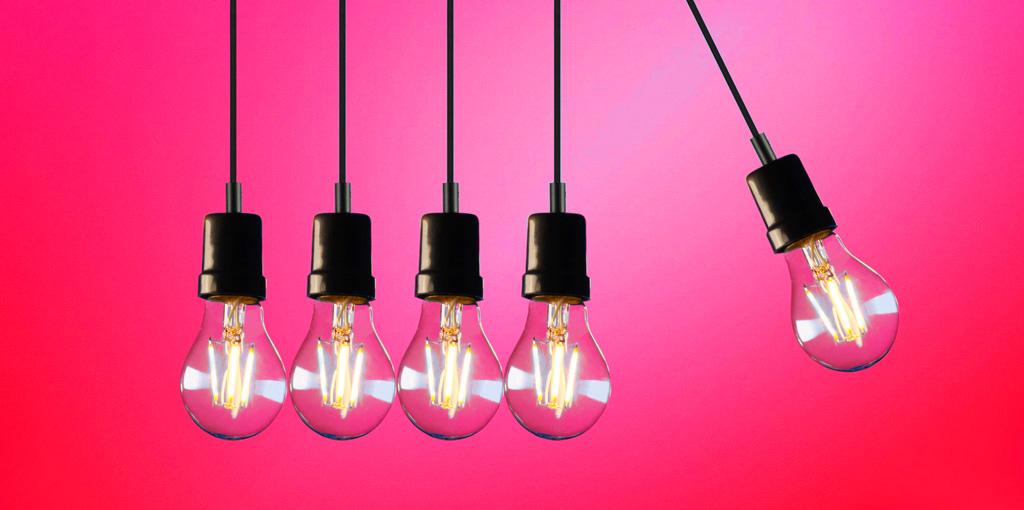 Kinetic light bulbs
