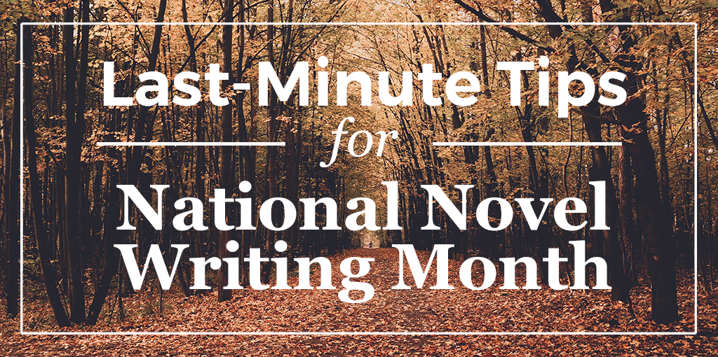 Last-Minute Tips for National Novel Writing Month